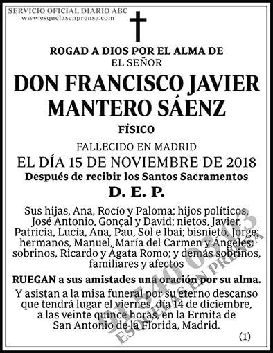 Francisco Javier Mantero Sáenz